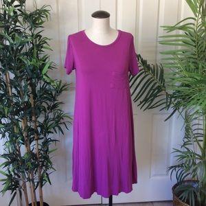 LuLaRoe XS Purple Hi Low Shift Dress